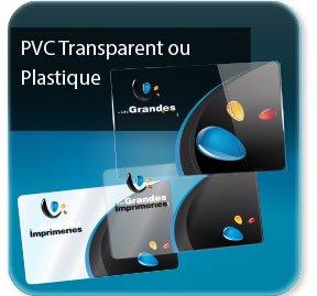 Les Cartes De Visite PVC Design Transparente Ou Opaque